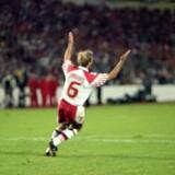 Danmark sparkede sig i 1992 i EM-finalen ved at besejre Holland i semifinalen i straffesparkskonkurrence. 2017-landsholdet undgår gerne et lignende drama. Scanpix/Palle Hedemann