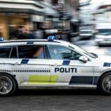 Politi ved Gammel Mønt i København, fredag den 17. november 2017.