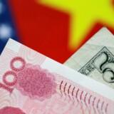 Yuan ligger på nuværende tidspunkt nær det stærkeste niveau i to og et halvt år. REUTERS/Thomas White/Illustration/File Photo