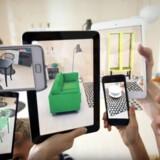 IKEA har planer om at lancere en app i efteråret, som vil give muligheden for at se, hvordan et møbel vil tage sig ud derhjemme. Sådan vil det komme til at virke ifølge en reklamefilm fra Ikea.