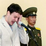 21-årige Otto Warmbier har ifølge Nordkorea indrømmet at have stjålet politiske propagandamateriale.