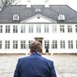 Anders Samuelsen, formand for Liberal Alliance, ankommer til Marienborg mandag for at indlede forhandlinger om en ny trekløver regering med statsminister Lars Løkke Rasmussen.