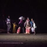Rohingyaer på flugt fra Myanmar.
