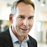 Apple præsenterede fredag formiddag planer og modeller af derees ny transformatorstation i Foulum ved Viborg. Her ses Erik Stannow, Apples chef i Nordeuropa.