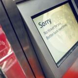 Arkivfoto: DSB's billetautomater er ofte udsat for hærværk nytårsaften. Derfor bliver de udendørs lukket til nytår.