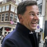 Parlements valg i Holland. Statsminister Mark Rutte (vvp) på gågaden i Haag.
