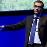 Nokias topchef, Rajeev Suri, bekræftede under et oplæg, at Nokia er på vej tilbage med mobiltelefoner - men det bliver med en ekstern producent, og det haster ikke, før den rigtige er fundet. Foto: Josep Lago, AFP/Scanpix