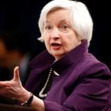 Formanden for den amerikanske centralbank, Janet Yellen
