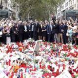 Angrebet skete natten til fredag, efter at en fører af en varevogn havde pløjet op mod 100 personer ned på Ramblaen i Barcelona. EPA/Sergio Barrenechea