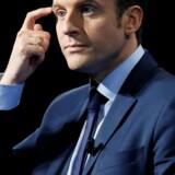 Emmanuel Macron, der er en uafhængig centrumpolitiker, er favorit til at vinde Frankrigs præsidentvalg, der holdes over to runder i april og maj. Reuters/Robert Pratta