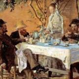 Hvem ville ikke gerne til Italien? De danske og norske guldaldermalere ville meget gerne til sol og varme og nye motiver for at arbejde. Indimellem spise de også - og så var der endnu et motiv som i P.S. Krøyers »Frokost i Sora« fra 1880.