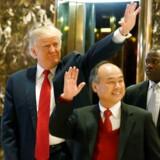 Donald Trump og Masayoshi Son.