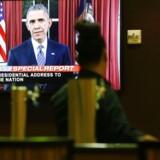 Præsident Barack Obama lagde i sin TV-tale søndag aften op til større samarbejde med teknologigiganterne for at få standset terrorister. Arkivfoto: Patrick T. Fallon, AFP/Scanpix