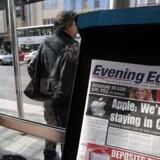 Apple meddelte i november, at bemandingen i Irland udvides med 1.000 ansatte frem mod 2017. Arkivfoto: Paul Faith, AFP/Scanpix