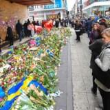 Blomsterhav i Stockholm i dagene efter terrorangrebet i april.