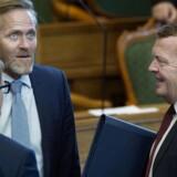 Anders Samuelsen ohg Lars Løkke Rasmussen ved Folketingets åbning 4. oktober 2016. (Foto: Liselotte Sabroe/Scanpix 2016)