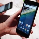 Android, som er det Google-ejede mobilstyresystem, er på rekordtid blevet ikke alene verdens største inden for mobiltelefoner men nu også det, der bruges oftest, når man går på nettet. Arkivfoto: Justin Sullivan, Getty Images/AFP/Scanpix