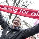 Anders Bondo Christensen har fået et klart ja fra lærerne til den aftale, han indgik med Kommunernes Landsforening den 27. april 2018 i Forligsinstitutionen - også selv om aftalen ikke indeholder et eneste løfte om bedre regler for arbejdstid for lærerne.(Foto: Mads Claus Rasmussen/Ritzau Scanpix)