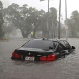 Oversvømmelser i Miami i Florida, efter at orkanen Irma har været forbi. Scanpix/Joe Raedle
