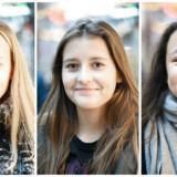 Berlingske har spurgt tre 14-årige piger om, hvad de tror, deres jævnaldrende gør og tænker, når det kommer til rusmidler. Amalie Glad Rydicher (tv.), Malou Egeskov og Nanna Helge (th.) var alle tre enige om, at hvis ens omgangskreds ryger og drikker meget, vil man også selv være tilbøjelig til at gøre det.