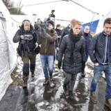 Udlændinge, integrations- og boligminister Inger Støjberg besøgte i vinter den nyoprettede flygtningelejr hos Beredskabscenter Thisted.