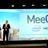 Mobilgiganten Nokia og chipproducenten Intel offentliggjorde i februar i år, at de går sammen om et nyt styresystem til små computere og mobiltelefoner, MeeGo. Det bliver sandsynligvis indmaden i en Nokia-konkurrent til Apples iPad. Foto: Josep Lago, AFP/Scanpix