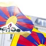 (ARKIV) Demonstration mod Kinas menneskerettighedsovertrædelser over for Tibet, Free Tibet, på Højbro Plads i København fredag d. 15. juni 2012 .(Foto: Dennis Lehmann/Ritzau Scanpix)