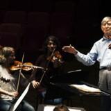 Den 86-årige æresdirigent Herbert Blomstedt øver med DR SymfoniOrkestret d. 21. oktober 2013 i DR Koncerthuset.