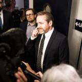 Finanslovsforhandlinger i Finansministeriet d. 18. november 2016. Liberal Alliances Anders Samuelsen. (Foto: Ólafur Steinar Gestsson/Scanpix 2016)
