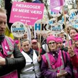 Tirsdag 24. april 2018 foran Forligsinstitutionen på Sankt Annæ Plads i København.