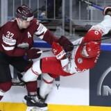 Frederik Storm og resten af det danske ishockeylandshold fik en skidt start på VM. Scanpix/Jan Korsgaard