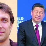Jakob Vestergaard, seniorforsker ved Dansk Institut for Internationale Studier og den kinesiske præsident, Xi Jinping, overraskede på World Economic Forum i Davos ved at tale stærkt for fortsat frihandel. Foto: AFP