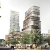 Visualisering af bygning ved Vesterport i stedet for Palads.