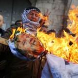 Præsident Donald Trump har med sin beslutning om at anerkende Jerusalem som Israels hovedstad skabt vrede blandt palæstinenserne