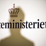 Skatteminister Karsten Lauritzens skygge i Skatteministeriet.