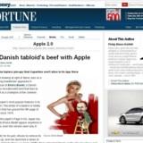 Ekstra Bladets protest mod Apple-censuren har vakt opsigt i USA, her er det Fortune på CNN, der omtaler sagen og viser, hvordan Apple-topchef Steve Jobs maler side 9-pigen over.