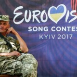 Konflikten mellem Rusland og Ukraine skygger for det kommen Eurovision Song Contest. Foto: EPA/SERGEY DOLZHENKO