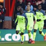 Liverpools Sadio Mane fejrer en scoring, før det gik galt for Liverpool. Reuters/Eddie Keogh