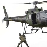 Arkivfoto: Ifølge Ekstra Bladet fløj helikopteren lavt over Israels Plads, hvorefter lugen faldt af ved Arbejdermuseet. Avisen har talt med et vidne til episoden.