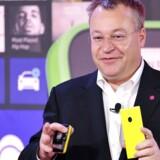 Stephen Elop stod gennem fire år i spidsen for Nokia, som blev kørt i sænk, inden Microsoft købte mobilproduktionen i 2013. Nu har han fået nyt job efter sidste år at være blevet sparet væk. Arkivfoto: Josh Edelson, AFP/Scanpix