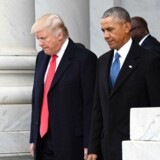 FILE PHOTO - U.S. President Donald Trump and former President Barack Obama walk out of the East front prior to Obama's departure from the 2017 Presidential Inauguration at the U.S. Capitol in Washington, D.C., U.S. January 20, 2017. REUTERS/Jack Gruber/Pool via USA TODAY NETWORK/File Photo