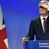 Den britiske Brexit-minister, David Davis, fastholder, at forhandlingerne med EU om briternes brud bevæger sig fremad på afgørende punkter. EUs forhandlere advarer om, at der snart skal konkrete fremskridt på bordet. Foto: Eric Vidal/Reuters