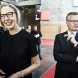 Ulrik Haagerup - her med generaldirektør Maria Rørbye Rønn - forlader DR for at intensivere kampen for den konstruktive journalistik.