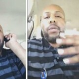 Amerikansk politi har indledt en storstilet menneskejagt på manden på billedet, der formodes at stå bag et drab på en ældre mand i Cleveland, som gerningsmanden delte på Facebook. I mellemtiden har det sociale medie iværksat en intern undersøgelse af håndteringen af voldelige videoer og andet stødende materiale. Reuters/Handout