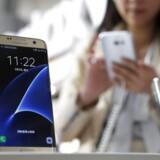 Galaxy S7 er Samsungs nye toptelefon. Den får premiere 10. marts verden over, også i Danmark. Arkivfoto: Ritchie B. Tongo, EPA/Scanpix