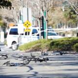 Flere cyklister blev påkørt.