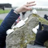 Ofre for nazisterne blev sidste år mindet med hvide sten på et mindesmærke ved museet for kz-lejren Majdanek i det østlige Polen.