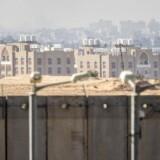 Grænsen mellem Israel og Gazastriben. Israel har søndag lukket grænseovergang ved Erez.