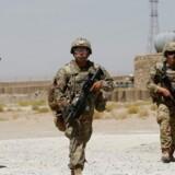 Amerikanske tropper ved Afghan National Army (ANA) Base, Afghanistan, 7. august 2018.