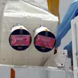 Terma har leveret to stjernekameraer til ESA satellitten Aeolus, der skal måle vindhastigheder fra rummet. Data fra satellitten skal sikre et bedre grundlag for at udarbejde vejrudsigter. Esa/Handout/Ritzau Scanpix